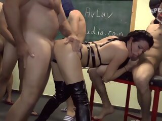 Hot woman and a little family gang bang anal 3movs