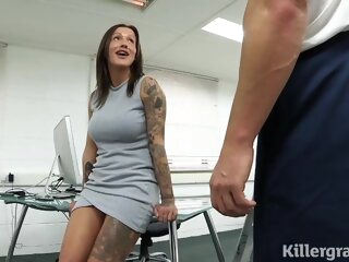 Sweet cock teaser got loads of sticky cum all over her face, after a hardcore fuck big tits 3movs