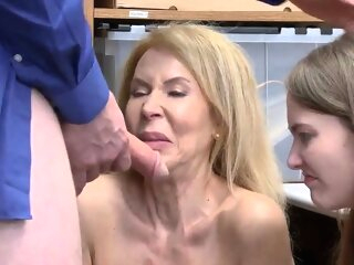 Natural hairy mature and trapped in hardcore gangbang Suspec blonde 3movs