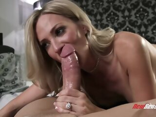 Busty blonde woman, Blake Morgan is playing with her big tits while getting fucked hard big tits 3movs