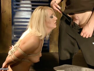 Valerie Follass in a scene of domination bdsm 3movs