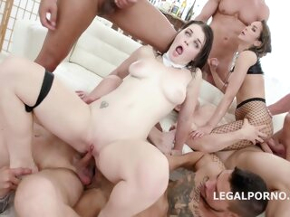 Anastasia Rose and Francys Belle like to have group sex with many horny guys, until they cum anal 3movs