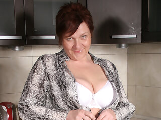 Big Breasted Mature Slut Playing In Her Kitchen - MatureNL big ass 3movs