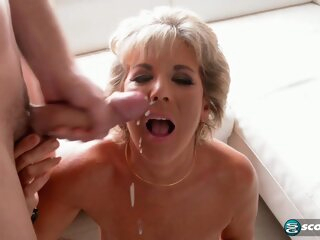Short haired mature woman and a bald guy with a beard are having a great fuck time blonde 3movs