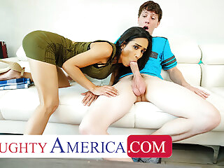 Naughty America - Recently divorced MILF fucks son's friend blowjob 3movs