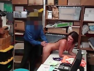 Stunning Teen Shoplifter Davina Davis Busted & Banged By Store Security office 3movs